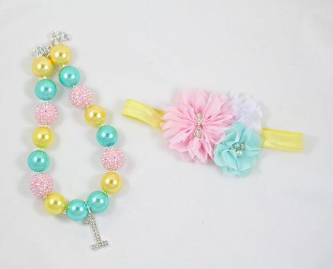 Birthday Headband and Necklace Set
