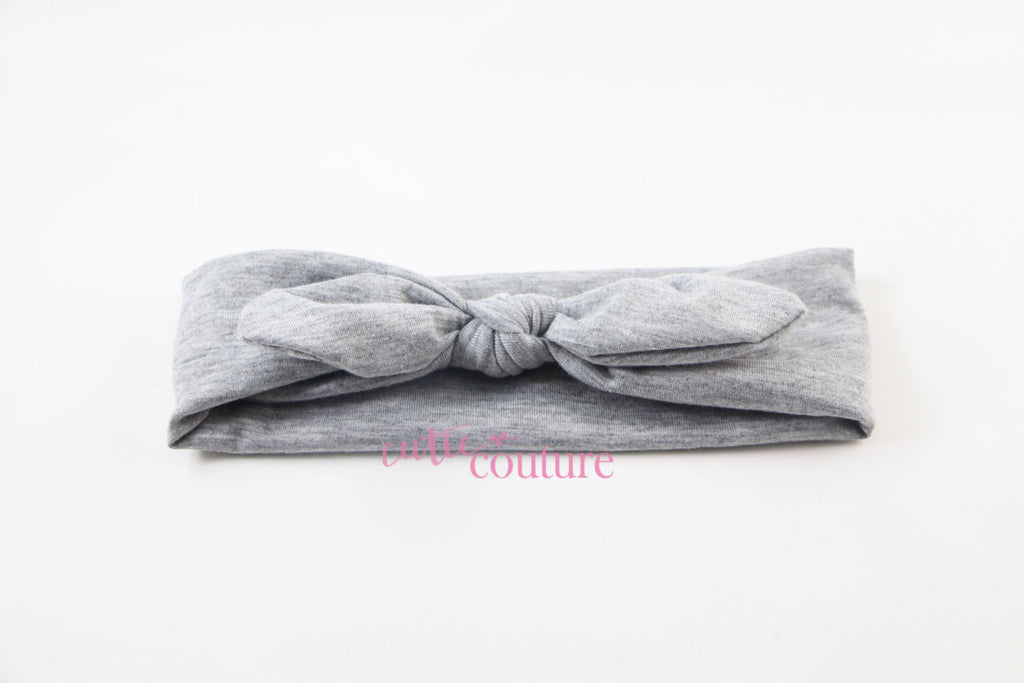 Karen- Gray Knotted Headband