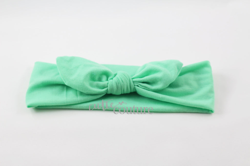 Karen- Mint Knotted Headband