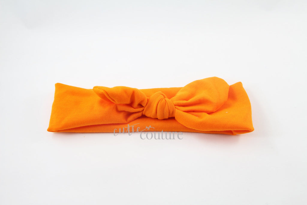 Karen- Orange Knotted Headband