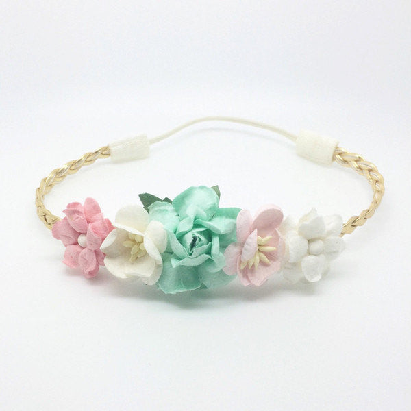 Valentina-Pink, Mint, and Ivory Headband