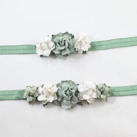 Mommy and Me -Sage and cream Headband
