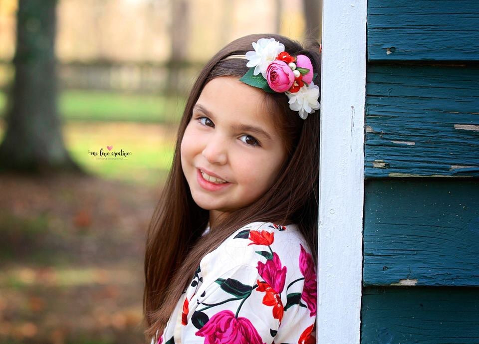 Francesca - Pink, Red and Cream flower Headband