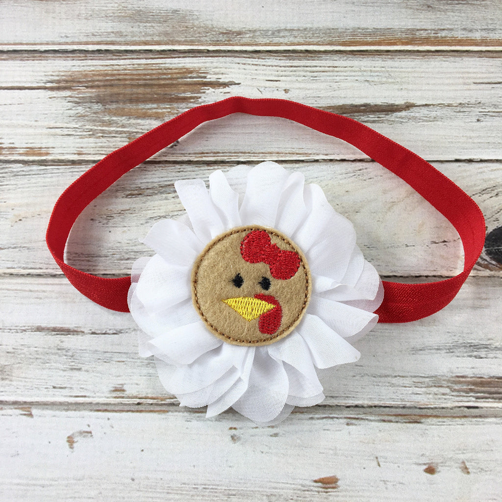 Turkey headband with feltie