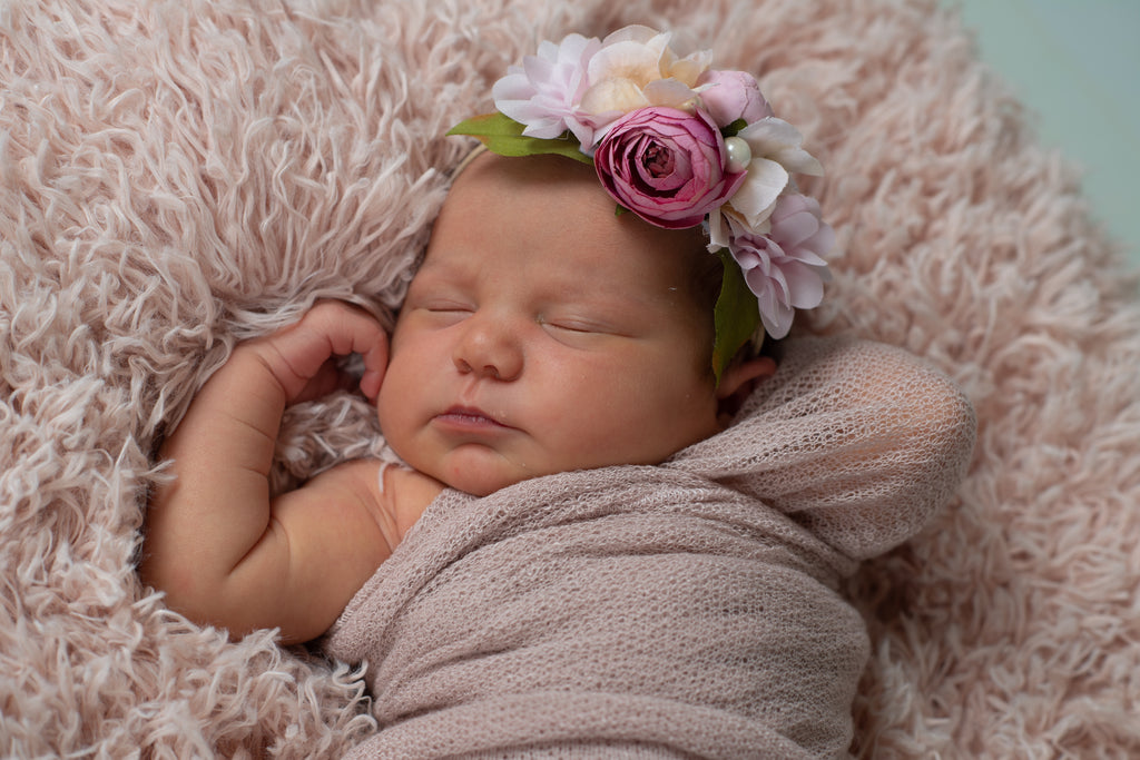 Francesca - Pink flower Headband