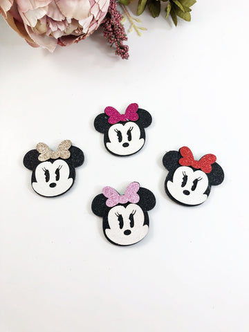 Glitter Clips- Minnie Mouse