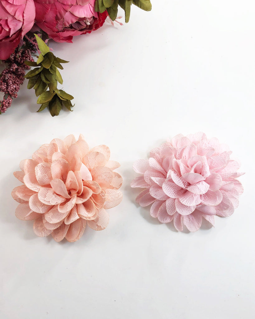 Lecia- Pink or Peach Lace Flower