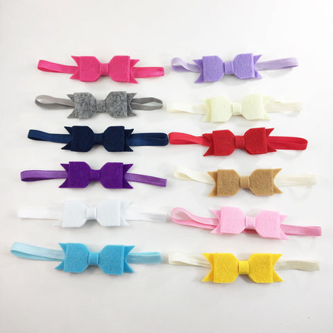 Felt Bows-Clip or Headbands