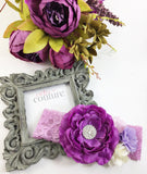 Rosanna- Purple, Lavender, Cream and Pink Headband