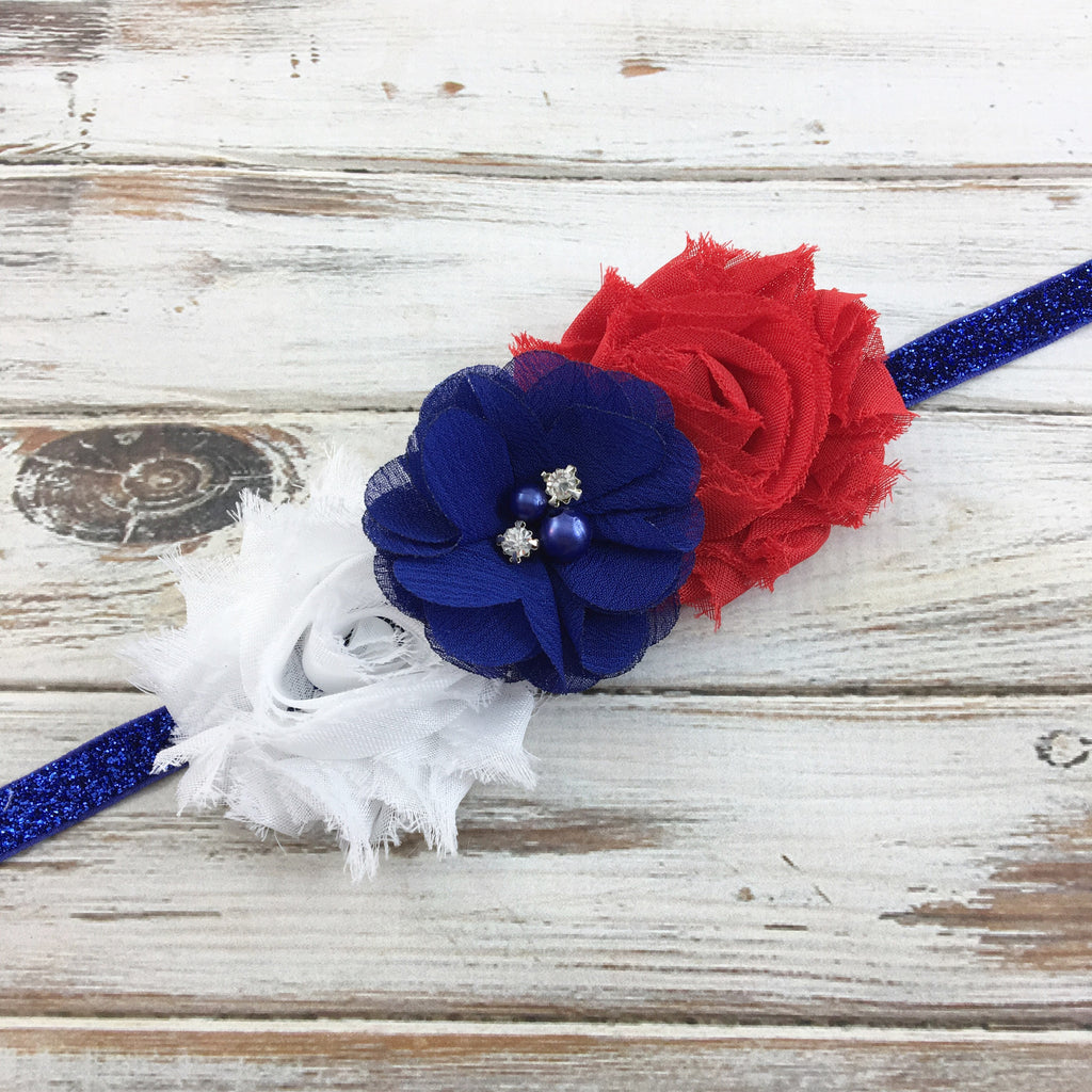 Brianna-Red, White, and Blue Headband