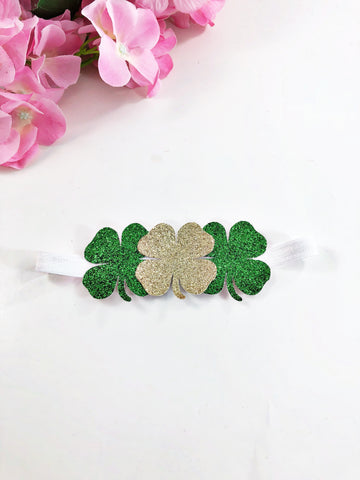 Triple Shamrock headband