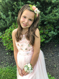 Francesca - peach and cream flower Headband
