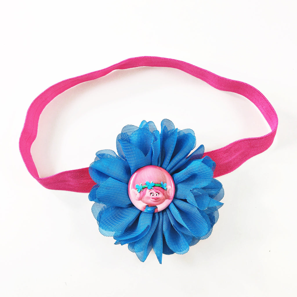 Troll headband or clip (Poppy)!