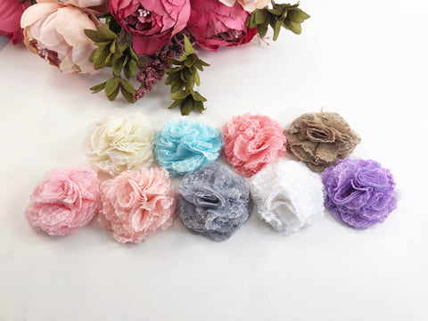 Lace flower headband or clips