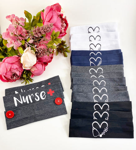 Nurse or Medical Worker headbands- PLEASE LEAVE NOTE AS TO WHICH DESIGN