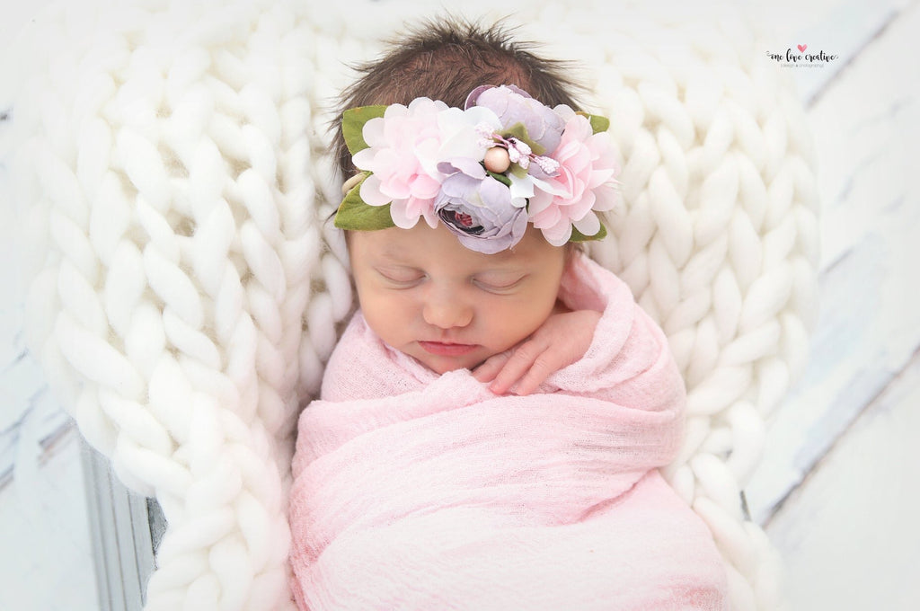 Francesca - Lavender and pink Headband