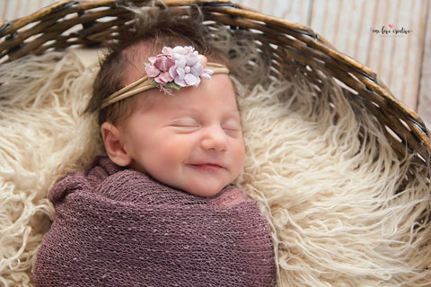 Francesca - dusty rose, pink and lavender flower Headband