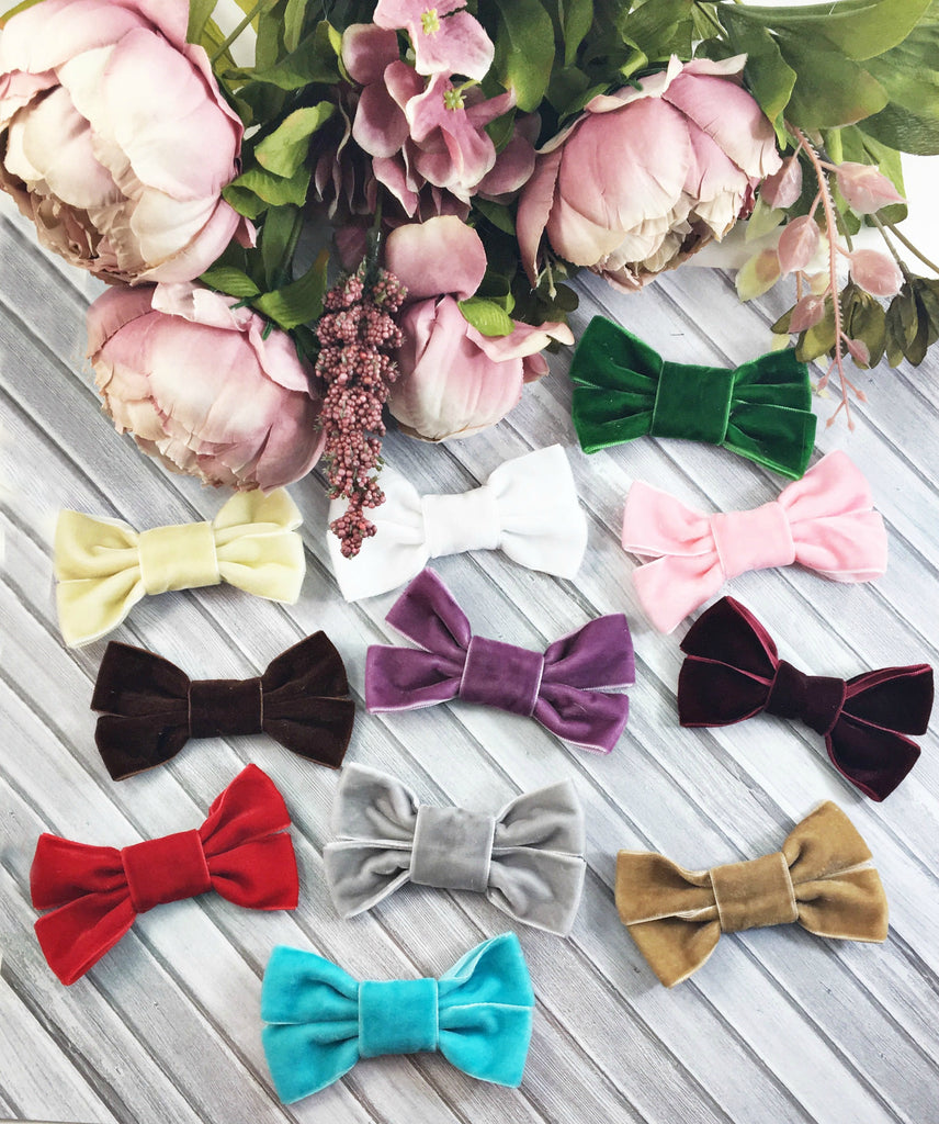Chloe-Velvet Bow Headbands