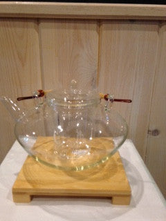 Glass Tea Pot with Bamboo Handle