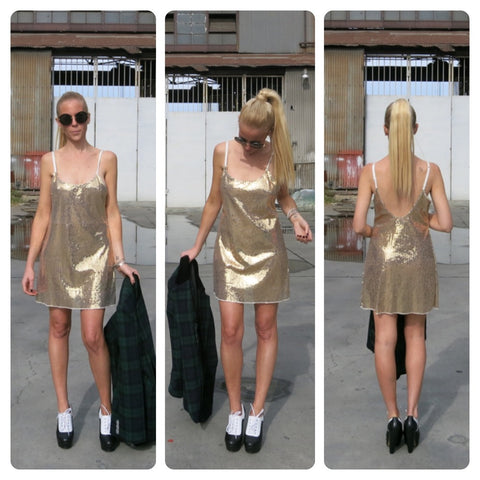DISCO BALL SLIP DRESS