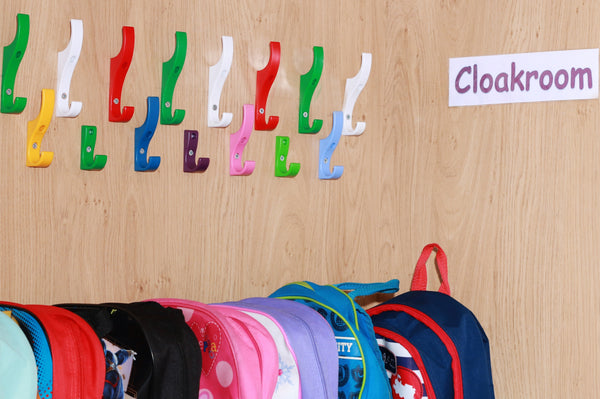 Toughooks are plastic coat hooks for nurseries and schools
