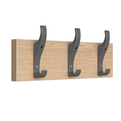 PerfectFit Coat Rail (Toughook Original) – Oak Finish Thumbnail