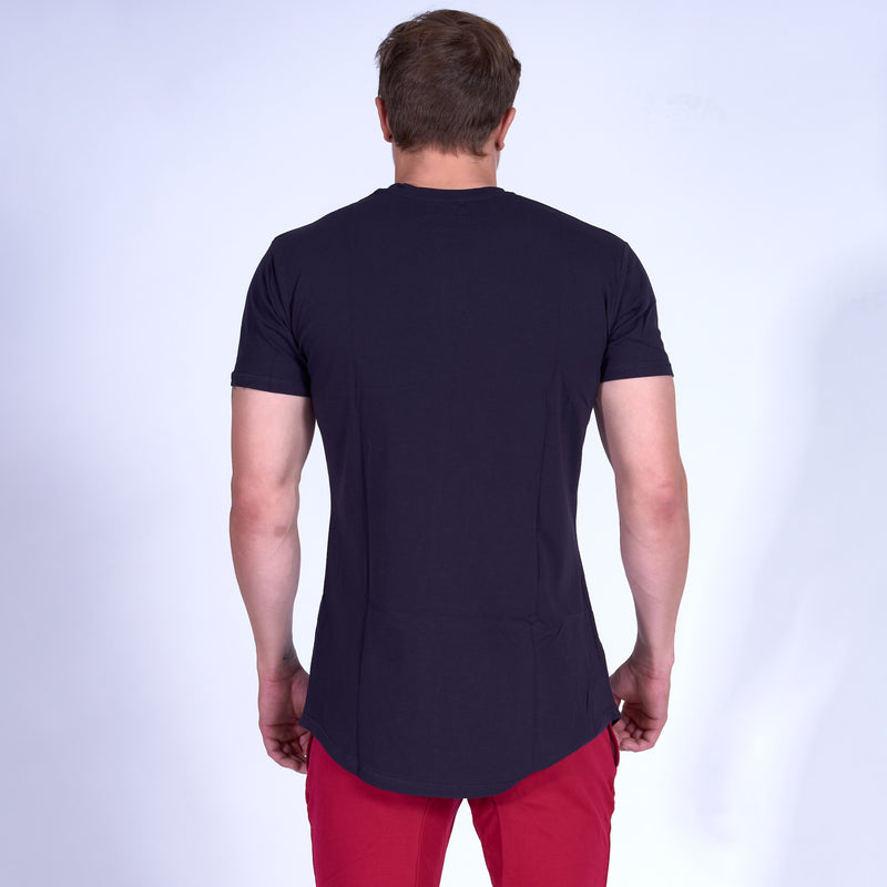 Energy GRAPHIC Scoop Bottom Tee- Navy