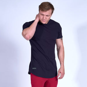 SIGNATURE Scoop Bottom Tee- Navy