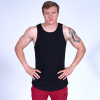 ENERGY Scoop Tank Top- Black