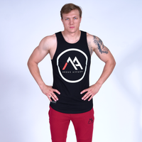 LOGO Scoop Tank Top- Black