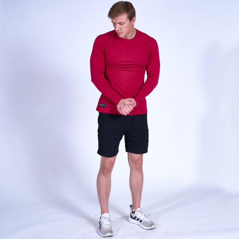 COMPETITOR Long Sleeve Shirt- Red