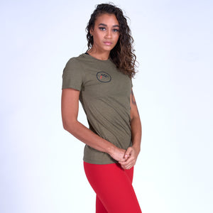 WOMEN'S Logo Tee - Military Green