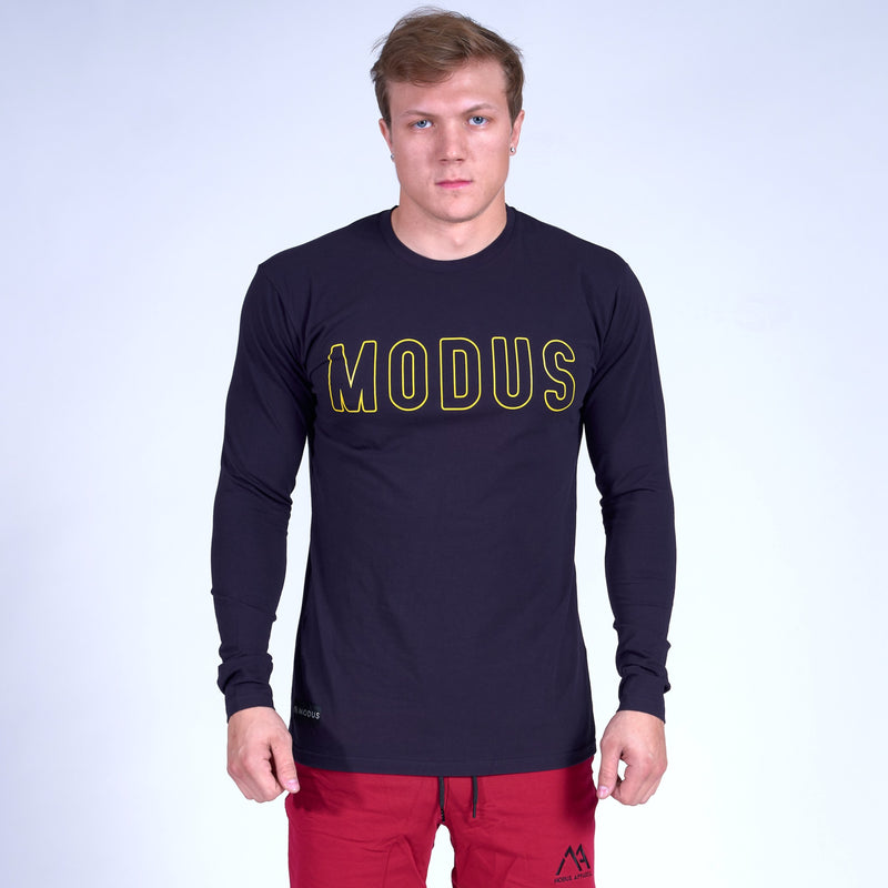 Competitor GRAPHIC Long Sleeve Shirt- Navy