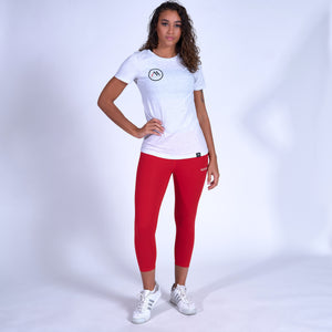 WOMEN'S Logo Tee - Heather White