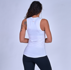 Being Mom Is My Cardio Muscle Tank - White