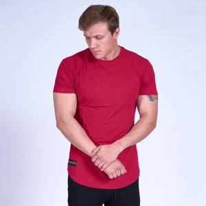 SIGNATURE Scoop Bottom Tee- Red