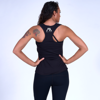 Good Vibes Racerback Tank- Black / White