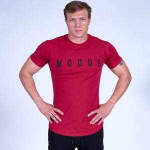 Energy GRAPHIC Scoop Bottom Tee- Red