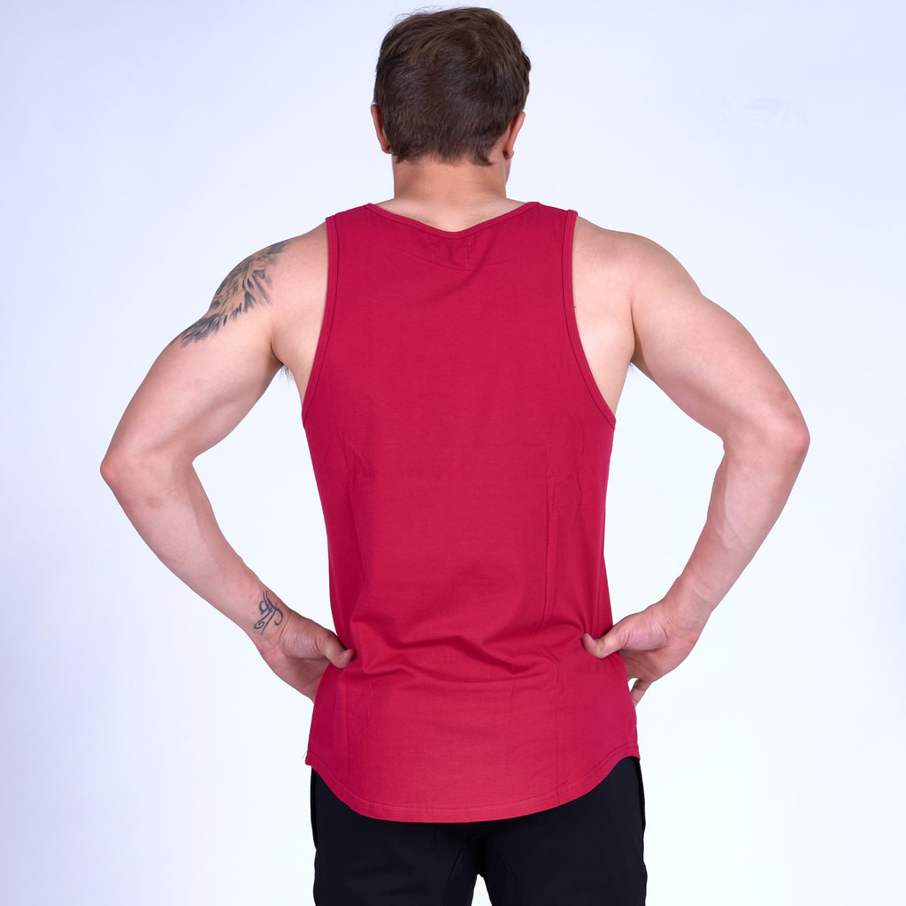 ENERGY Scoop Tank Top- Brick Red