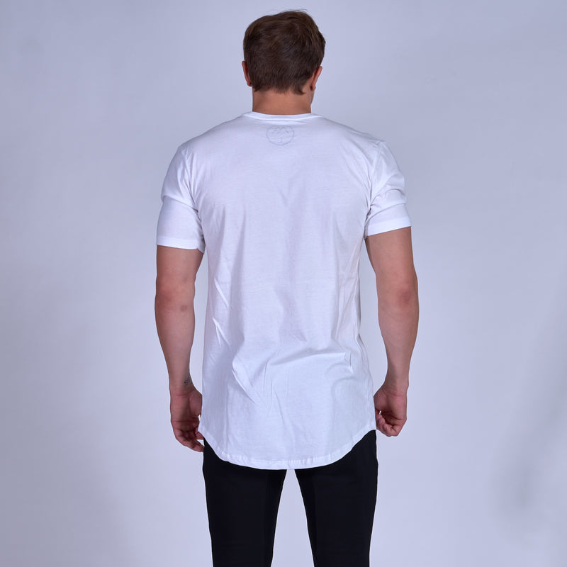 Symbolic Scoop Tee- White