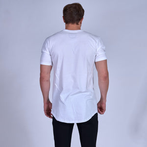 LOGO Scoop Tee- White