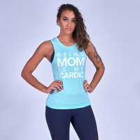 Being Mom Is My Cardio Muscle Tank - Mint