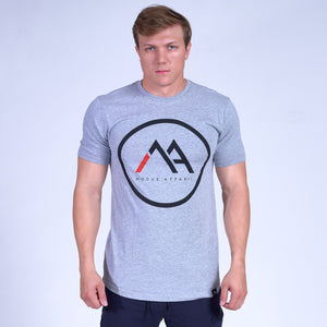 LOGO Scoop Tee- Grey