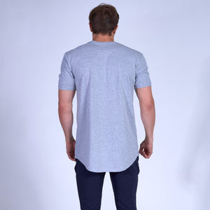 Symbolic Scoop Tee- Grey
