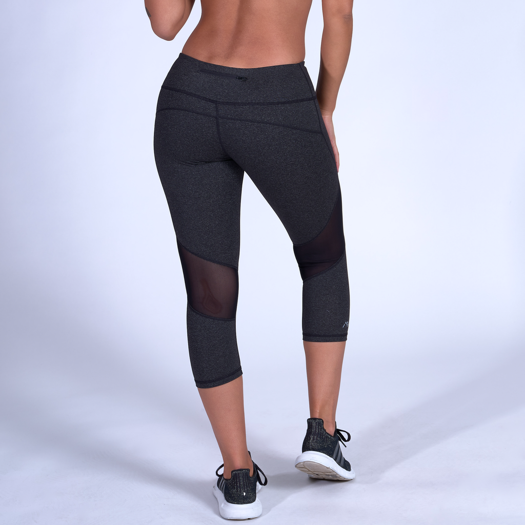 Stealth Capris - Heather Grey