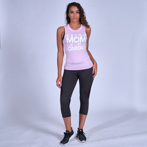 Being Mom Is My Cardio Muscle Tank - Pink