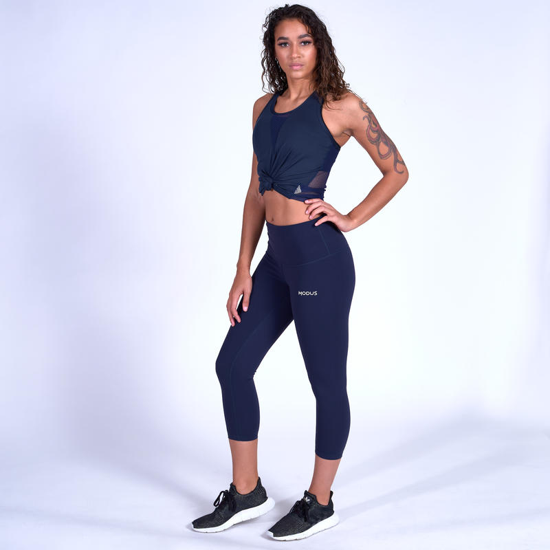 Sculpt Capris - Navy Blue