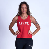 AZ Life ELECTRIC VINTAGE Tank Top- Red
