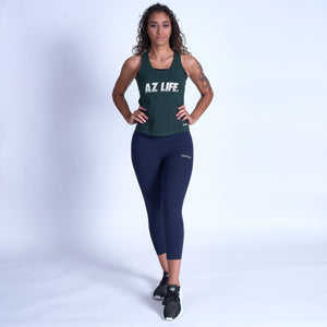 AZ Life ELECTRIC VINTAGE Tank Top- Green