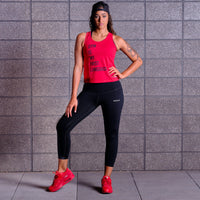 GYM IS MY FIRST LANGUAGE Tank - Red / Black